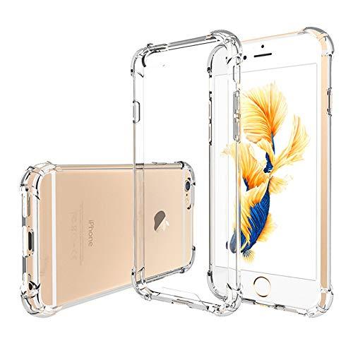 Hually Cover per iPhone 6s, iPhone 6s Cover Sottile e Trasparente, Custodia Morbida in Silicone Flessibile Compatibile con iPhone 6s / 6, Trasparente Cover