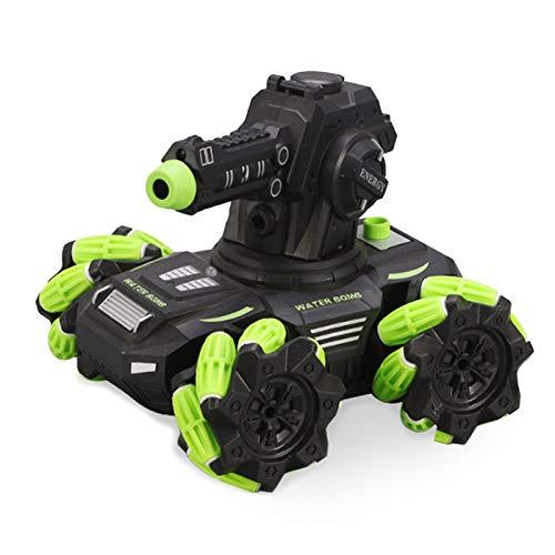 Walmeck SY020-1 Coche de control remoto con brazo de agua Armored Stunt Car Drift Universal Wheel RC Car con luz y spray 2.4Ghz Control remoto Tanque de batalla Coche eléctrico de juguete para adultos