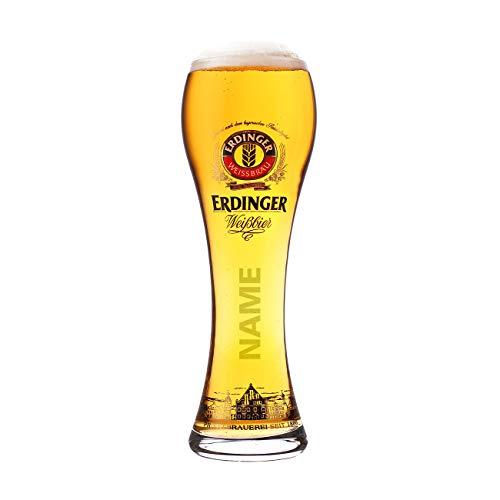 Erdinger Glas mit Gravur lizenziert...