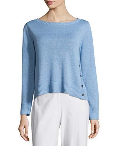 Eileen Fisher Organic Linen Blue Bird Sweater 1X 2X MSRP $188.00 (2X)