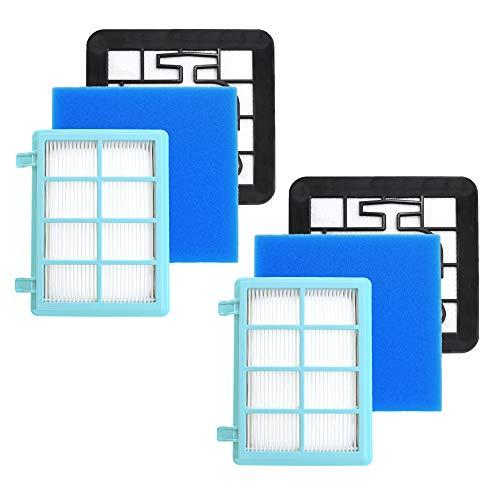 2x Staubsaugerfilter für Philips PowerPro Compact FC9331, FC9332, FC9334, PowerPro Active Staubsauger FC9550, FC9555, FC9556 Filter kompatibel mit Philips FC8010/02, Hepa 13 Filter von CleanMonster