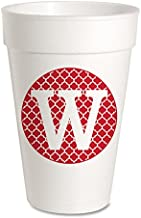 Personalized (A-Z) Foam Party Cups - Styrofoam 16oz 10 Pack (Letter