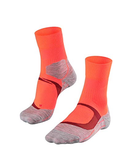 FALKE Damen, Laufsocken RU4 Cool Funktionsfaser, 1 er Pack, Rot (Neon Red 8584), Größe: 39-40