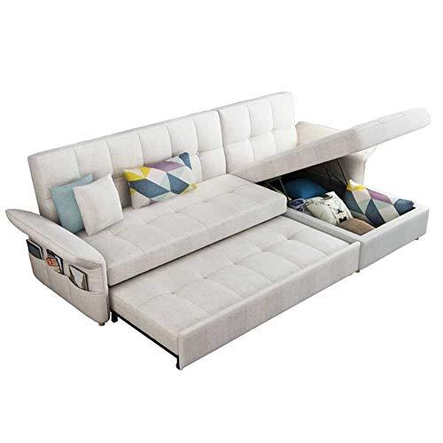 RJMOLU Divano componibile Convertibile modulare Strato a Forma di L con Chaise Reversibile Divano modulare Divano componibile Couch Pigro Protable. Divano del Soggiorno