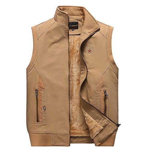GL SUIT Mens Padded Gilet Körperwärmer Weste Fleece Multi-Tasche Weste Gesteppte Weste beiläufige...