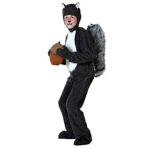LPATTERN Disfraz Animal para Niños Unisex Disfraz Mono de Cosplay con Capucha para Carnaval Halloween, Ardilla, XL/Altura Recomendada:125-140cm