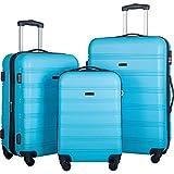 Juego de equipaje de 3 piezas Hardside Spinner Maleta con cerradura TSA 20' 24' 28' disponible, Black,