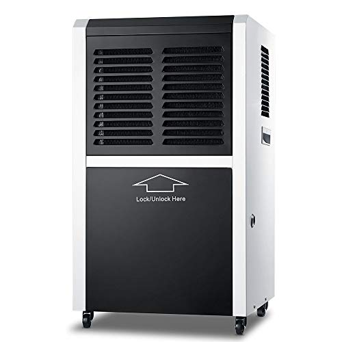 DOROSIN Commercial Dehumidifier, 170 Pint Portable Industrial Basement Dehumidifier for Large Home Garage, Large Capacity Auto Defrost Auto Shut Off with Continuous Drain Hose