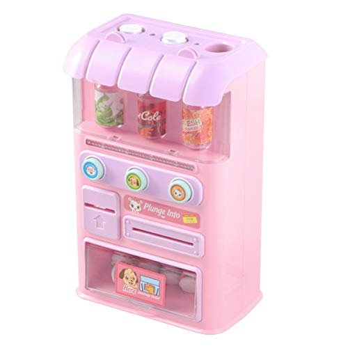 TOYANDONA Mini Vending Machine Toy Electronic Beverage Drink Machine Early Developmental Toy With Light Sound For Kid Girls Prentend Game (Random Color)