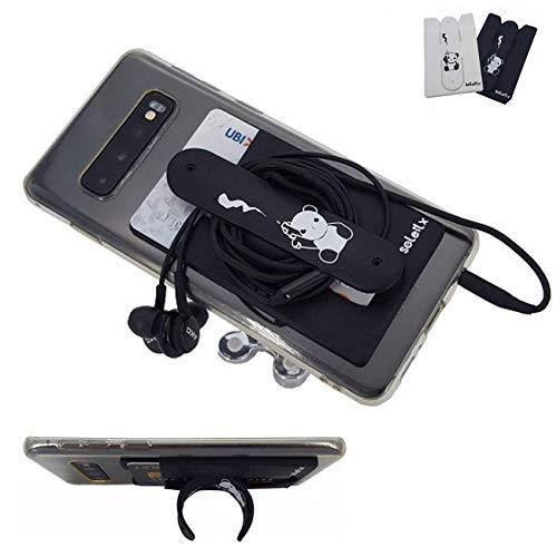 soleilx Supporto Smartphone Portacarte Adesivo Universale Cover per Smartphone Porta Tessere Porta Cellulare Carte di Credito Auricolare Cuffie Docume