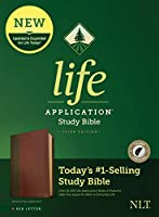 Life Application Study Bible: New Living Translation, Brown & Tan, LeatherLike, Red Letter