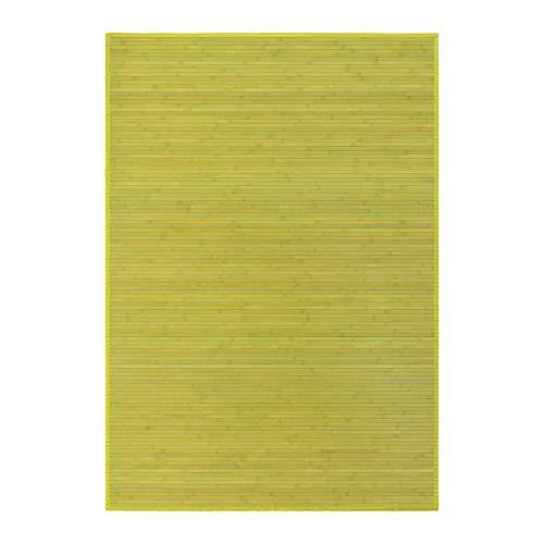 Lola Home Alfombra para salón de bambú (140 x 200 cm, Verde)