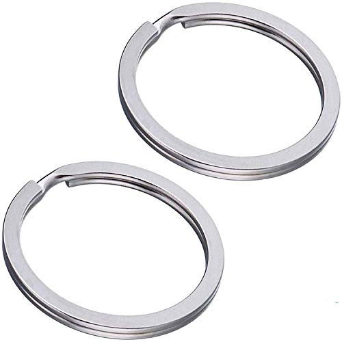 Schlüsselringe Flach 100 Stück 25mm - Stahl Gehärtet - Vernickelt - für Schlüsselanhänger