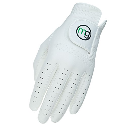 MG Golf Glove Mens Left (RH Golfer) DynaGrip All-Cabretta Leather (Medium-Large Regular Size)