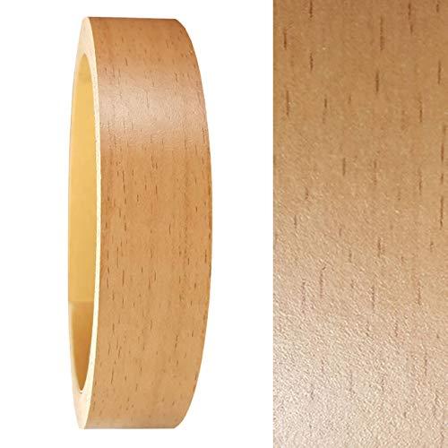 Umleimer 19 mm x 5 Meter in Buche Holz-Optik SELBSTKLEBEND als Kantenumleimer OHNE BÜGELN glatt matt ohne Struktur