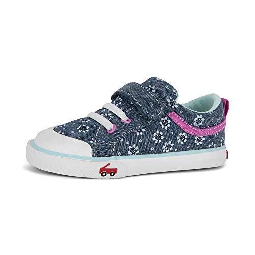 See Kai Run, Kristin Sneakers for Kids, Gray/Sprinkles, 9.5 M Toddler