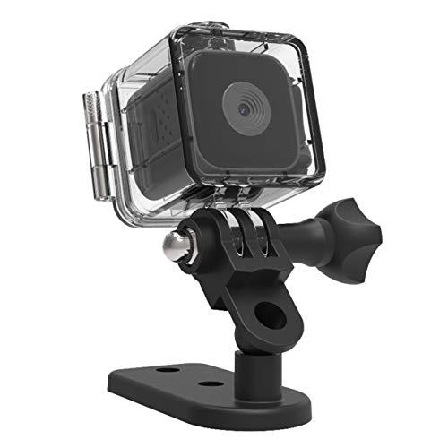 Mini cámara DEXILIO, videocámara pequeña 1080P con visión Nocturna, microcámara de vigilancia de Seguridad para Interiores y Exteriores, con Tarjeta de 32 GB y Estuche Impermeable (sin WiFi)