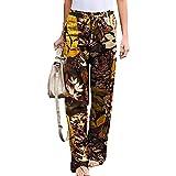 WJANYHN Pantalones De Mujer De Lino Y AlgodóN Multicolor con Cintura EláStica, Sencillos Y CóModos, Informales Y A La Moda para Mujer