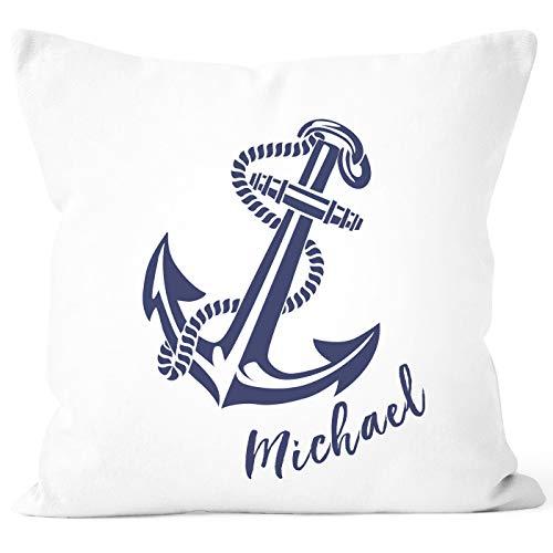 SpecialMe® Kissen-Bezug mit Namen Kissen-Hülle Namenskissen Baumwolle personalisierte Geschenke Dekokissen weiß Unisize