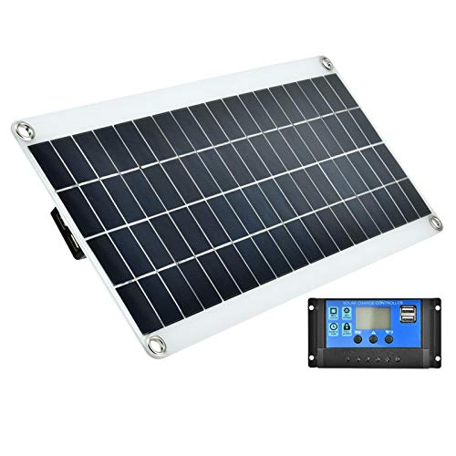 Flexible Solar Panel, Maximum Bendable 30 Degree Arc Solar Controller Kit, Double MOS Anti-Backflow Circuit, Easy To Use And Carry for Security Cameras Laptops