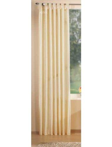 Gardinenbox Attraktiver Deko Taft Vorhang, blickdicht und lichtdurchlässig, viele moderne Farben, 245x140, Creme, 20310