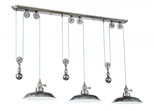 Craftmade P403-TS 3 Light Pulley Pendant