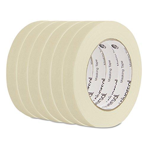 Universal 51334 General Purpose Masking Tape, 18mm x 54.8m, 3-Inch Core, 6/Pack