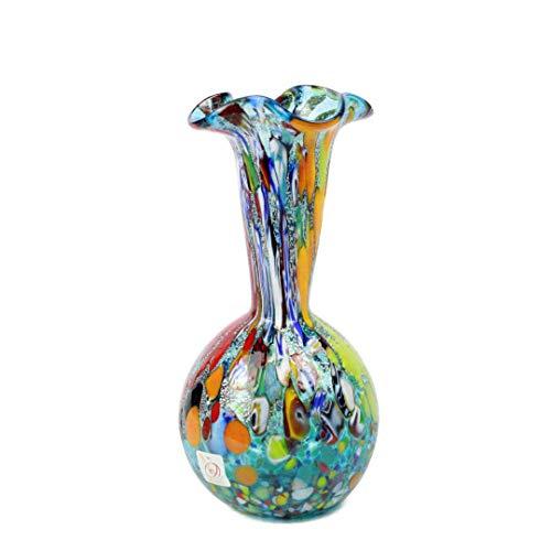 Original Murano Glass OMG Lily Vase High Bleu clair