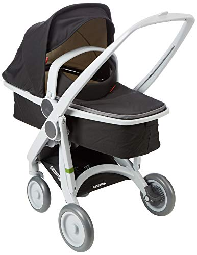 Greentom A+B+C Grey-black-V16 Poussette avec nacelle mixte adulte