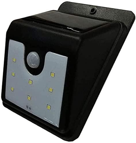 Lámpara de pared a prueba de polvo a prueba de agu Luz del sensor de movimiento al aire libre, luces de seguridad con energía solar a prueba de intemperie Lámpara de pared externa a prueba de intemper