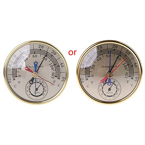 """BOBEINI Min Max Termometro Igrometro Montaggio a Parete Appeso Analogico Temperatura umidità 5"""""""