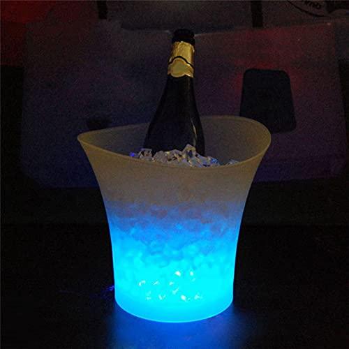 Mr.LQ Barras De Cubo De Hielo De Plástico Que Cambian De Color LED a Prueba De Agua 5L Discotecas con Luz LED Barras De Cubo De Cerveza De Champán