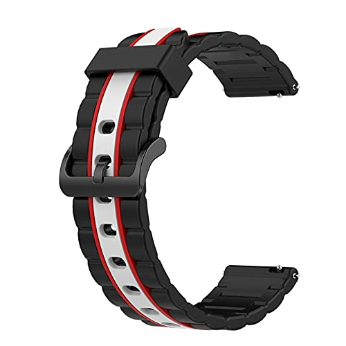 LXFFCOK Silicone Wavy Wavy Bandas for Huawei Watch GT 2 46 mm/Galaxy Watch 3 45 mm Strap Sportp Sport Band Parts (Band Color : Red White)