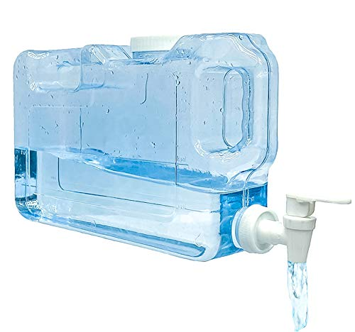 dispensador de agua fría para Nevera. Garrafa con Capacidad 4,2 litros. Botella de plástico PETG Reutilizable con Grifo. Fuente para Agua, Bebidas, cócteles Playas, Camping, oficinas. (4,2 Litros)