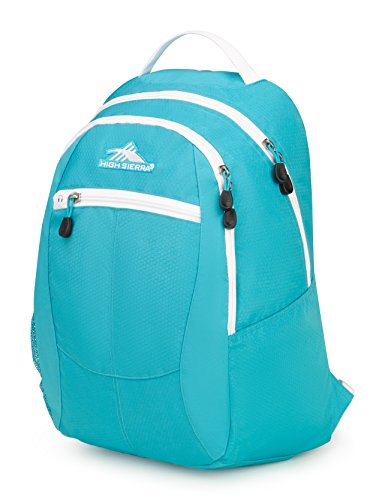 High Sierra Curve Mochila ligera con correas acolchadas, ideal para estudiantes, Unisex adulto, 53632-3403, Tropic verde azulado/blanco, talla única