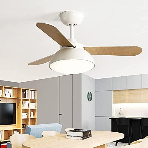 Ventilador de Techo Industrial con Luces Ventilador de Techo Interior Luz LED y Control Remoto Lámpara de Ventilador de Dormitorio Sala de Estar Estudio para niños Lámparas de Ventilador de t