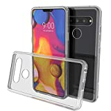 LG V40 Case, PUNKcase [Lucid 2.0 Series] [Slim Fit] [Clear Back] Armor Cover w/Integrated Anti-Shock System & Tempered Glass PUNKSHIELD Screen Protector for LG V40 ThinQ [Clear]