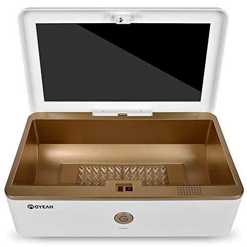 Huishoudelijke Sterilizer Box & Ozon Desinfectie met Ultraviolet Germicidale Lamp UV Sterilisatie Sanitizing voor Mobiele telefoon, Cosmetische Schoonmaak Gereedschap, Ondergoed, Nagel Schoonheid Salon Apparatuur