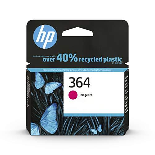 HP 364 CB319EE, Magenta, Cartucho de Tinta Original, de 300 páginas, para impresoras HP Photosmart serie C5300, C6300, B210, B110 y Deskjet serie 3520