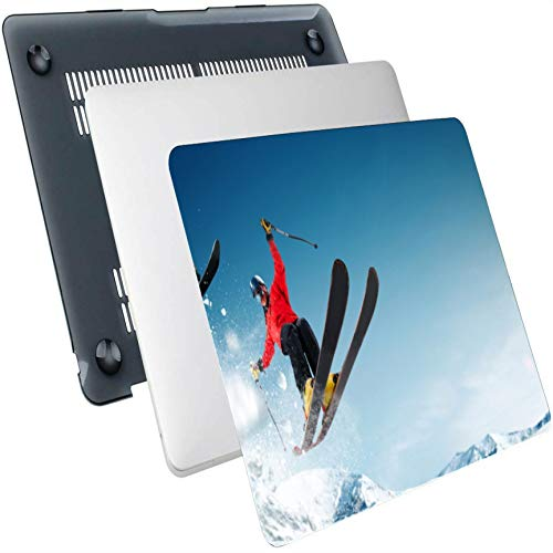 MacBook 11 Inch Case Jump Skiers Extreme Winter Sports Plastic Hard Shell Compatible Mac Air 13' Pro 13'/16' MacBook Air Cover Protective Cover for MacBook 2016-2020 Version