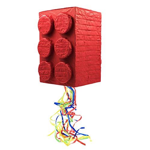 Trendario Pinata Baustein - ungefüllt - Ideal zum Befüllen mit Süßigkeiten und Geschenken - Piñata für Kindergeburtstag Spiel, Geschenkidee, Party, Hochzeit