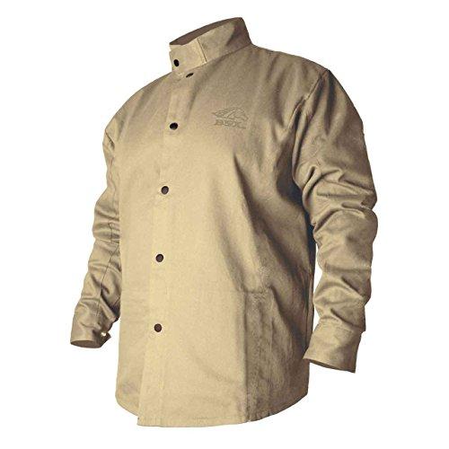 REVCO Black Stallion BXTN9C Khaki Fire Resistant Cotton Welding Jacket, Large