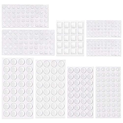 ✮LEBENSLANGE GARANTIE✮-CZ Store®- Klebefüße|Los von 348 PCS/9 SIZES|Gummianschlag für den Möbelschutz/Wand/Stoßfängerhalter Kleber Geräuschdämpfer/Kratzfest - selbstklebendes und transparentes