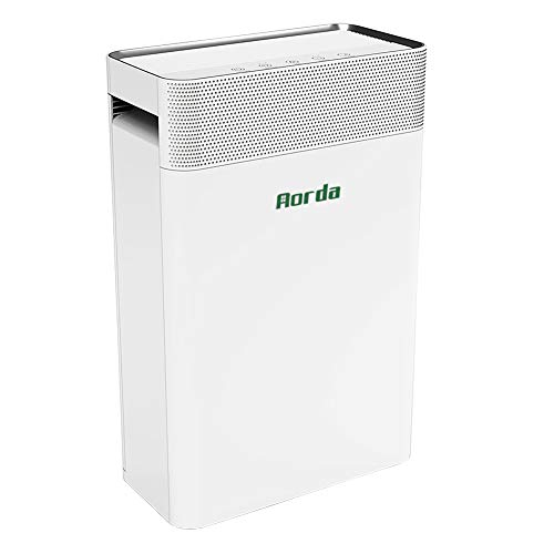 Aorda Air Purifier for Home: True HEPA Filter Air Cleaner with Quiet Sleep Mode - Eliminates Dust, Odor, Smoke, Pet Dander - for Allergies, Bedroom, Office White