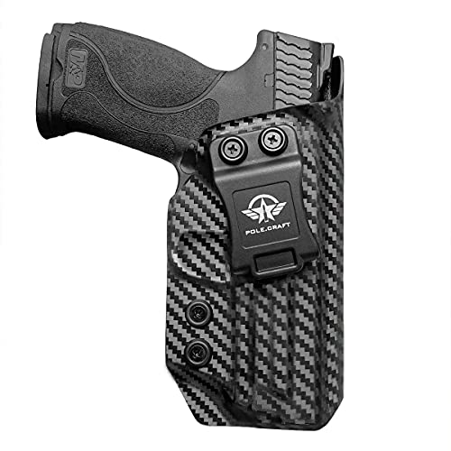 M&P 9mm Holster, M&P 2.0 Holster, Carbon Fiber Kydex Holster IWB for Smith & Wesson M&P 9mm M2.0 4'/4.25', Inside Waistband Carry Concealed Holster M&P 9mm 2.0 Accessories (Black, Right)