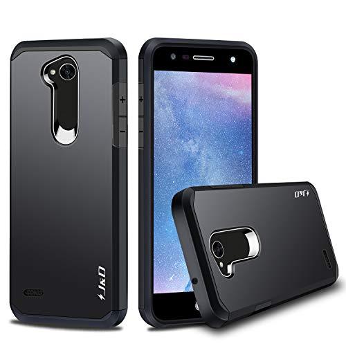 JundD Kompatibel für LG X Power 2 Hülle, [ArmorBox] [Doppelschicht] [Heavy-Duty-Schutz] Hybrid Stoßfest Schutzhülle für LG X Power 2 - [Nicht für LG X Power/LG X Power 3] - Schwarz
