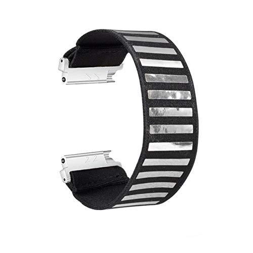 LRJBFC Correa de Banda de Reloj de Nylon elástico para Samsung Galaxy Watch Active2 18mm 20 mm 22mm Colorido Nylon para Reloj Huawei Pulsera Pulsera (Band Color : Light Purple, Band Width : 18mm)