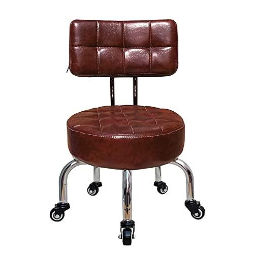 QLIGAH Sgabello da Pedicure con Ruote Sgabello Sgabello Bambino Desk per Adulti Piccoli sedie Sedile Imbottito con Ruote rotolabili Home Pedicure