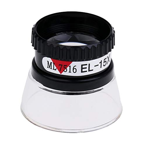 15X Portable Monocular Magnifier Magnifying Glass Watch Jewelers Repair Tools Loupe Lens Jewelry Making Tool for Miniature Engraving, Clock Repair, Coins, Crafts, Watchmakers, Maps, Stamps