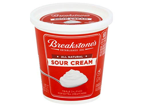 Kraft Breakstones All Natural Sour Cream, 8 Ounce -- 12 per case.